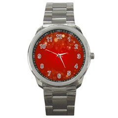 Background Abstract Christmas Sport Metal Watch