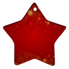 Background Abstract Christmas Star Ornament (two Sides)