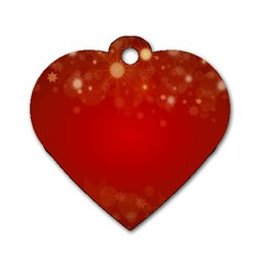 Background Abstract Christmas Dog Tag Heart (one Side)