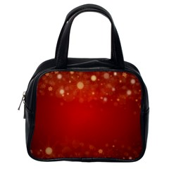 Background Abstract Christmas Classic Handbags (one Side)