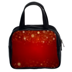 Background Abstract Christmas Classic Handbags (2 Sides)
