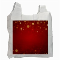 Background Abstract Christmas Recycle Bag (two Side)