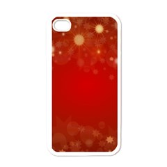 Background Abstract Christmas Apple Iphone 4 Case (white)