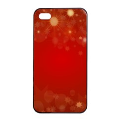 Background Abstract Christmas Apple Iphone 4/4s Seamless Case (black)