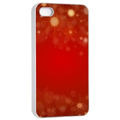 Background Abstract Christmas Apple Iphone 4/4s Seamless Case (white)
