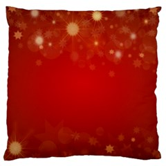 Background Abstract Christmas Large Cushion Case (two Sides)