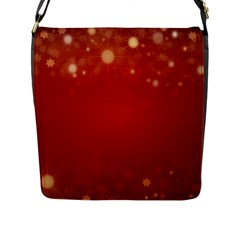 Background Abstract Christmas Flap Messenger Bag (l)