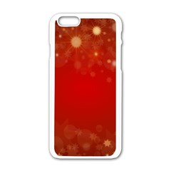 Background Abstract Christmas Apple Iphone 6/6s White Enamel Case