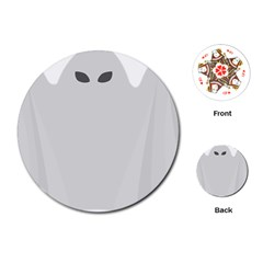 Ghost Halloween Spooky Horror Fear Playing Cards (round)