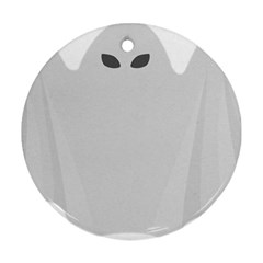 Ghost Halloween Spooky Horror Fear Round Ornament (two Sides)
