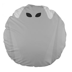 Ghost Halloween Spooky Horror Fear Large 18  Premium Round Cushions