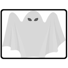 Ghost Halloween Spooky Horror Fear Double Sided Fleece Blanket (large)