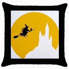 Castle Cat Evil Female Fictiona Throw Pillow Case (black)