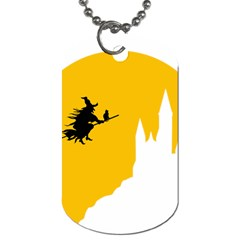 Castle Cat Evil Female Fictiona Dog Tag (two Sides) by Nexatart