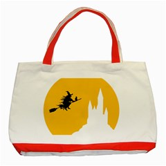 Castle Cat Evil Female Fictiona Classic Tote Bag (red) by Nexatart