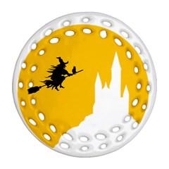 Castle Cat Evil Female Fictiona Ornament (round Filigree)