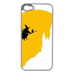 Castle Cat Evil Female Fictiona Apple Iphone 5 Case (silver)