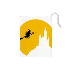 Castle Cat Evil Female Fictiona Drawstring Pouches (small)  by Nexatart