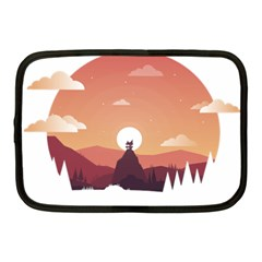 Design Art Hill Hut Landscape Netbook Case (medium)