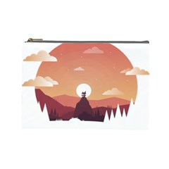 Design Art Hill Hut Landscape Cosmetic Bag (large)