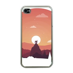 Design Art Hill Hut Landscape Apple Iphone 4 Case (clear)