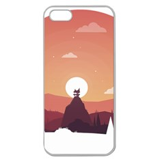 Design Art Hill Hut Landscape Apple Seamless Iphone 5 Case (clear)