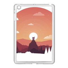 Design Art Hill Hut Landscape Apple Ipad Mini Case (white) by Nexatart