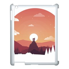 Design Art Hill Hut Landscape Apple Ipad 3/4 Case (white)