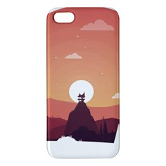 Design Art Hill Hut Landscape Apple Iphone 5 Premium Hardshell Case