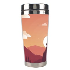 Design Art Hill Hut Landscape Stainless Steel Travel Tumblers