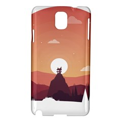 Design Art Hill Hut Landscape Samsung Galaxy Note 3 N9005 Hardshell Case