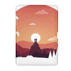 Design Art Hill Hut Landscape Samsung Galaxy Tab 2 (10 1 ) P5100 Hardshell Case