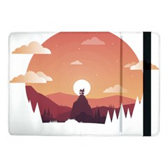 Design Art Hill Hut Landscape Samsung Galaxy Tab Pro 10 1  Flip Case