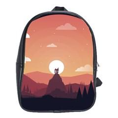 Design Art Hill Hut Landscape School Bag (large)