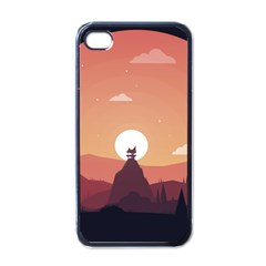 Design Art Hill Hut Landscape Apple Iphone 4 Case (black)