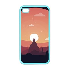 Design Art Hill Hut Landscape Apple Iphone 4 Case (color)
