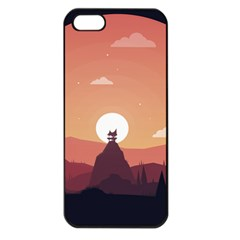 Design Art Hill Hut Landscape Apple Iphone 5 Seamless Case (black)