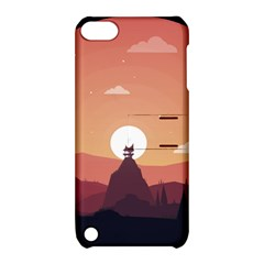 Design Art Hill Hut Landscape Apple Ipod Touch 5 Hardshell Case With Stand