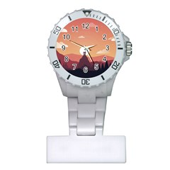 Design Art Hill Hut Landscape Plastic Nurses Watch
