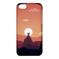 Design Art Hill Hut Landscape Apple Iphone 5c Hardshell Case