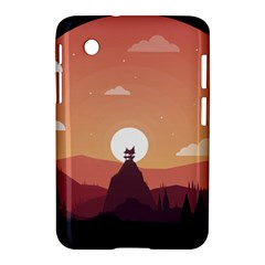 Design Art Hill Hut Landscape Samsung Galaxy Tab 2 (7 ) P3100 Hardshell Case
