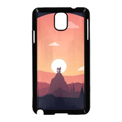 Design Art Hill Hut Landscape Samsung Galaxy Note 3 Neo Hardshell Case (black)