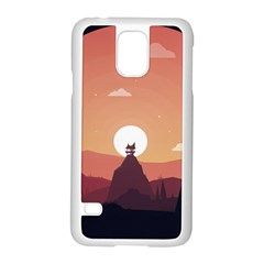 Design Art Hill Hut Landscape Samsung Galaxy S5 Case (white)