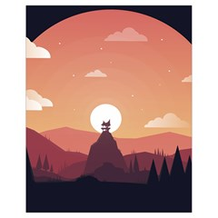 Design Art Hill Hut Landscape Drawstring Bag (small)