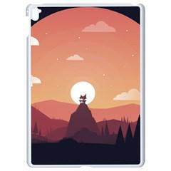 Design Art Hill Hut Landscape Apple Ipad Pro 9 7   White Seamless Case
