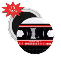 Compact Cassette Musicassette Mc 2 25  Magnets (10 Pack)