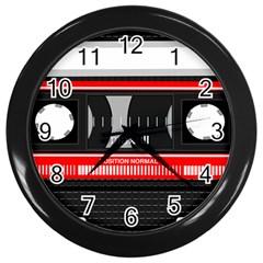 Compact Cassette Musicassette Mc Wall Clocks (black)