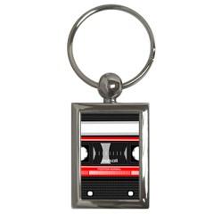 Compact Cassette Musicassette Mc Key Chains (rectangle)