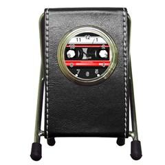 Compact Cassette Musicassette Mc Pen Holder Desk Clocks