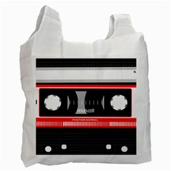 Compact Cassette Musicassette Mc Recycle Bag (two Side)  by Nexatart